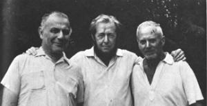 Lev Kopelev, Solzhenitsyn and Dmitri Panin(Lev Rubin, Gleb Nerzhin and Dmitri Sologdin in The First Circle)