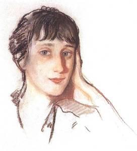 Akhmatova by Zinaida Serebriakova