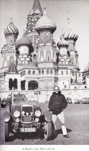 Fred and the Alvis near St. Basil's Cathedral, Moscow
