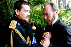 Oleg Yankovskiy as Karenin and Yaroslav Boyko as Vronsky
