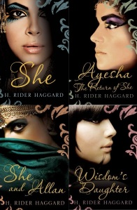 "The four ""She"" novels - aren't the covers striking?"