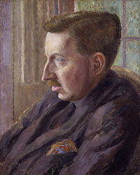 E.M. Forster painted by Carrington