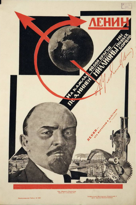 Nikolai Akimov - Lenin. For every 10,000 enemies we will raise millions of new fighters, 1925