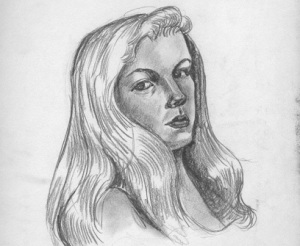 Plath self-portrait