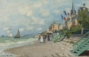 Claude Monet, La Plage á Trouville,