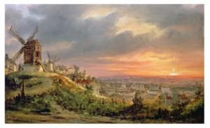 View Of The Butte Montmartre  Louis Jacques Mande Daguerre