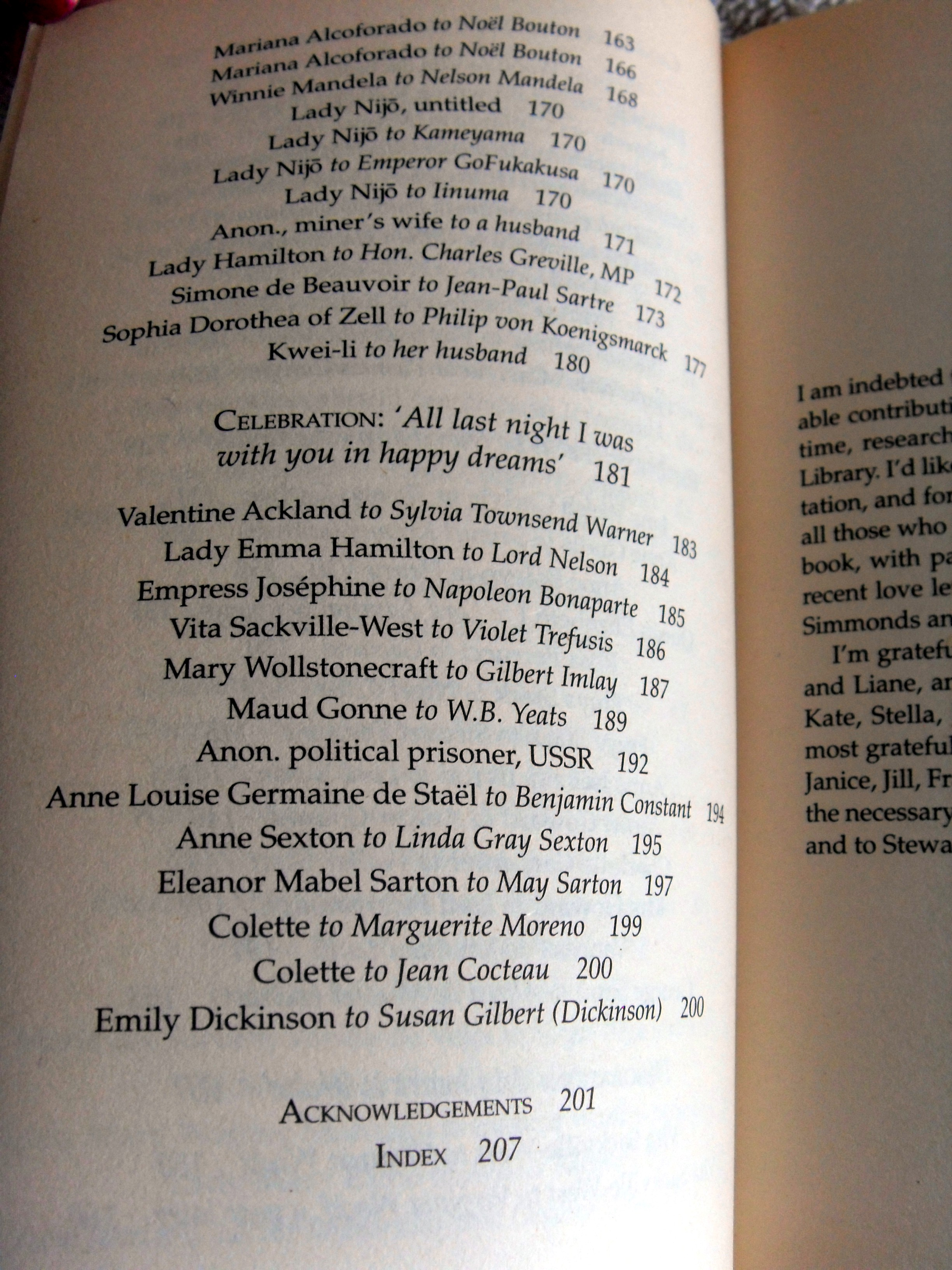final page of contents