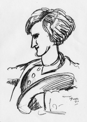 Portrait of Gardner by Peake, courtesy the Persephone Books site.