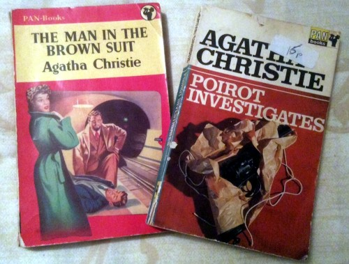Two of my battered but beloved old Agatha books