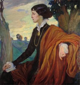 Anna Akhmatova by Olga Della-Vos-Kardovskaia, 1914 © State Tretyakov Gallery