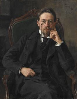 Anton Chekhov by Iosif Braz, 1898 © State Tretyakov Gallery