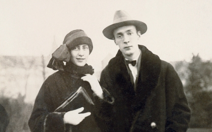 Nabakov and wife to be Vera in Berlin, 1924
