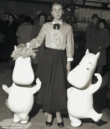 Tove and Moomins in 1956