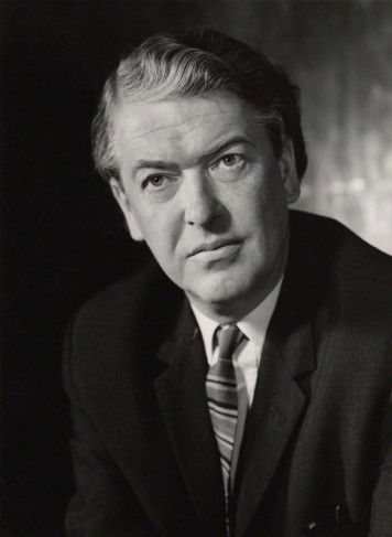 Kingsley Amis by Godfrey Argent, c. NPG