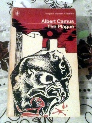 "My old copy of ""The Plague"" which has been with me for over 30 years..."