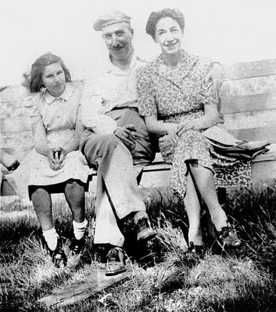 Zweig with Lotte and neice Eva in Bath - 1940